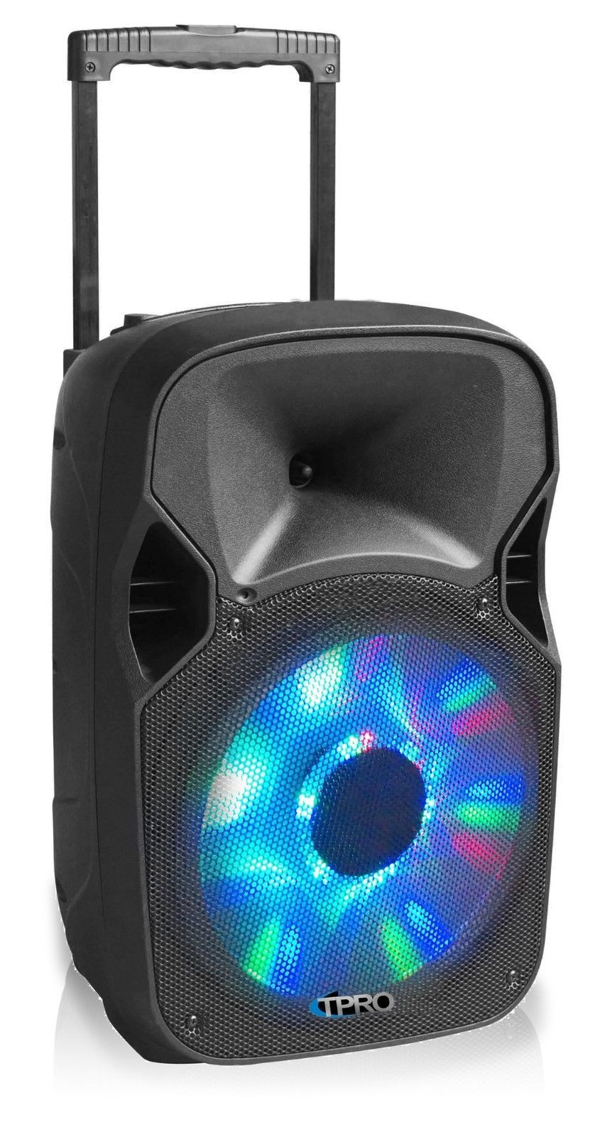 "TECHNICAL PRO 12"" ACTIVE SPEAKER PB12M LED PORTABLE SPEAKER with Microphone"
