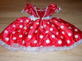 Size Small 5-6 Disney Store Classic Minnie Mouse Costume Dress Red White Dots - $48.00