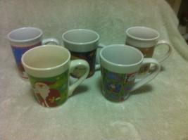 (5)  ROYAL NORFOLK--CHRISTMAS COFFEE MUGS / CUPS--MISC SANTAS---FREE SHI... - $29.92