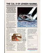 1978 Jensen Marine Cal 31 posh practical boat print ad - $10.00