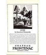 1926 Chateau Frontenac America's Normandy vacation print ad - $10.00