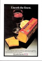 1978 Kraft Cheddar Cheese Extra Sharp Cracker print ad  - $10.00