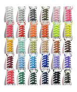 """2 Pairs Flat 27"""",36"""",45"""",54"""",63"""" Athletic Sneaker Strings Shoelace - $6.43+"""