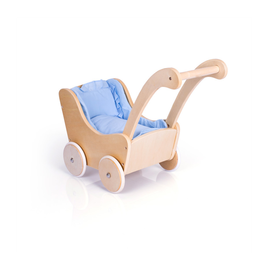 Guidecraft G98106 Kids Play Wooden Baby Doll Buggy Carriage Natural NEW