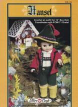Hansel, Fibre Craft 13 inch Male Doll Clothes Crochet Pattern Booklet FCM170 - $3.95
