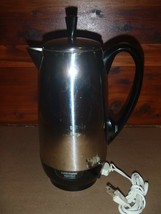 Vintage Farberware 12-Cup Percolator FCP412 Stainless Steel Superfast Co... - $23.36