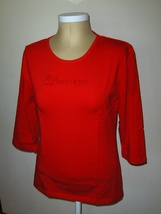 Be Inspired Womens Red T-shirt  Size Large Red Rhinestone Bling - $10.00
