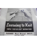 Learning to Knit  - $5.00