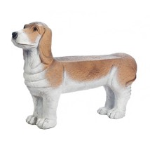 Small Bench, Basset Hound Seat Garden Patio Decorative Backless Bench Ou... - $187.49
