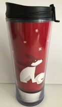 STARBUCKS 2009 16 Ounce Christmas Dog Snowflake Coffee Tumbler Travel Mug  - $19.79