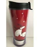 STARBUCKS 2009 16 Ounce Christmas Dog Snowflake Coffee Tumbler Travel Mug  - $19.79