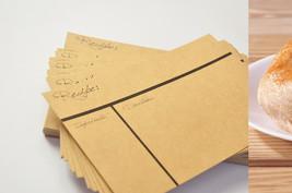 Recipe cards 4x6 inches, kraft recipe, filofax ... - $39.90