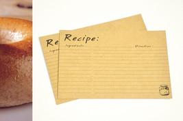 Kraft Recipe cards, 100 jam jar illustration re... - $39.90