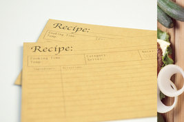 100 Recipe cards, cookbook, bridal shower recip... - $39.90