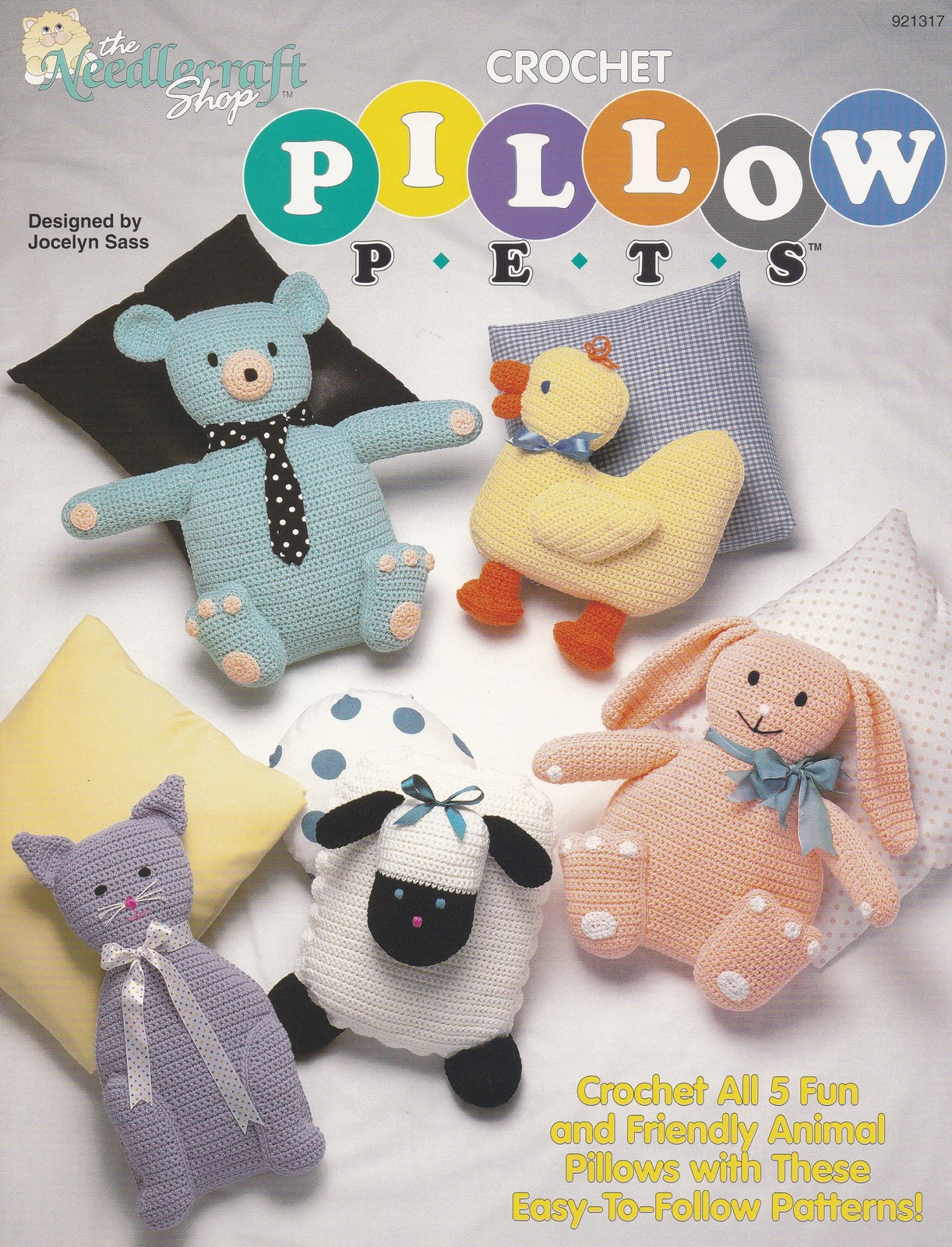 Free Crochet Patterns For Pillow Pets : Pillow Pets, Toy Animal Crochet Pattern Booklet The ...