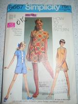 Vintage 1969 Simplicity Junior Petites & Miss Size 12 Mini-Pantdress # 8667 - $4.99