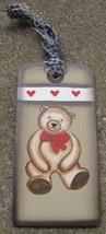WD1462 - Teddy Bear Gift Wood Tag  - $1.95