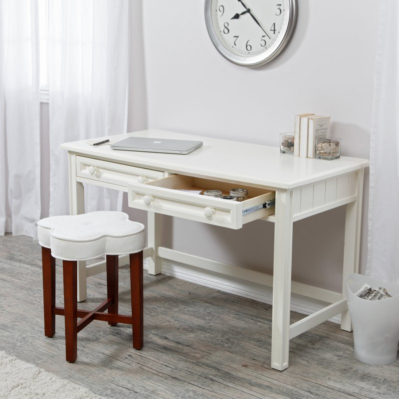 White Wood Home Office Furniture ~ Small writing desk white wood table home office living