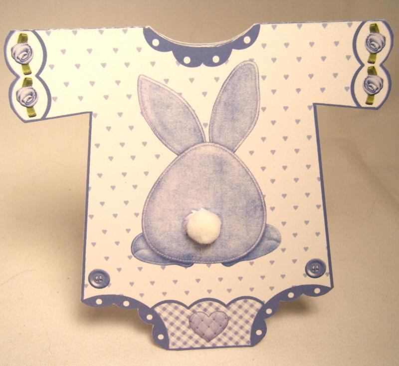 handmade greeting card  new baby boy onesie  greeting