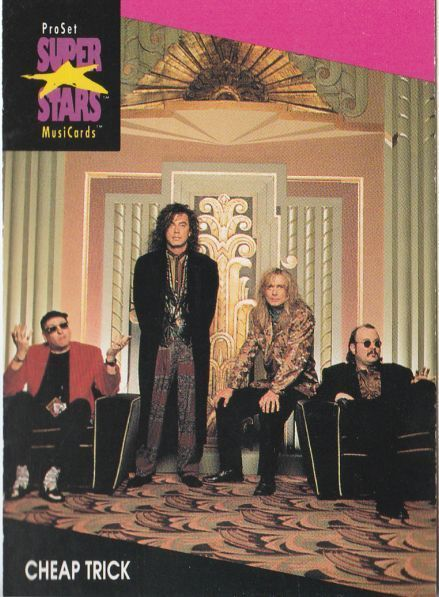 CHEAP TRICK 1991 PRO SET MUSIC CARDS # 154