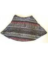 Mossimo Supply Co Multi Color Skater Skirt S Juniors Elastic Waist Semi ... - $7.91