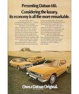 1973 Datsun 610 Hardtop Sedan Wagon art-work print ad - $10.00