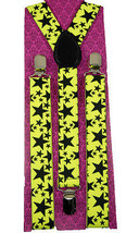 Unisex Clip-on Braces Elastic Neon Star Suspender - $6.92