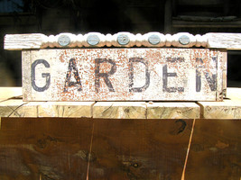 Old Garden Spindle wood sign Upcycled Art - $79.99