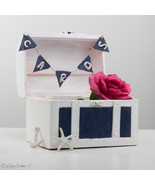 Unique Beach Wedding Chest Gift Card box Holder-Nautical Keepsake box-Na... - $32.95