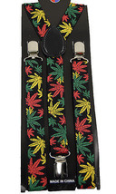 Unisex Clip-on Braces Elastic Suspender Marihuana - $6.92
