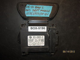 06 07 08 09 10 BMW 5 SERIES ANTI-THEFT MODULE #65756974370-01 *see descr... - $69.28