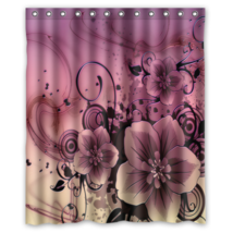 Abstract Flower 009 Style Shower Curtain Waterproof Made From Polyester - $29.07+