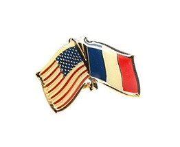 United States France Friendship Flag Lapel Pin - $4.99