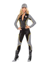 Sexy Roma Wanna Race Car Driver Nascar Catsuit Halloween Costume S/M M/L... - $72.00+