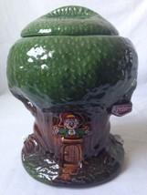 Vintage Keebler Elf Hollow Tree Cookie Jar Advertising Ernie Decal 350 USA - $49.45