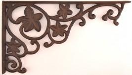 "Wall Shelf Bracket Ivy Leaf Pattern Cast Iron 12.75"" Ornate Crafting Supplies - $22.99"