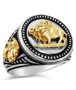 10 Karat Gold American Buffalo Mens Coin ring - $290.00