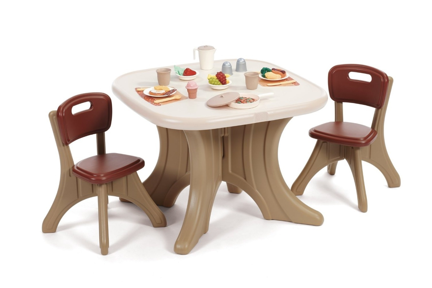 Kids Playroom Furniture Child Toddler Table 2 Chairs Set