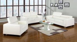 Makri 3 Pieces Sofa Set In Bonded Leather - $1,698.00