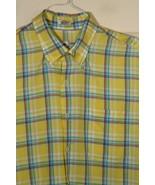 Peter Millar Linen Cotton Blend Yellow Plaid Button Down Sport Shirt L L... - $64.35