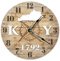 Sugar Vine Art Kentucky Established Silent Non Ticking Round Battery Operated Ha - $24.29