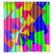 Abstract Colour 019 Style Shower Curtain Waterproof Made From Polyester - $29.07+