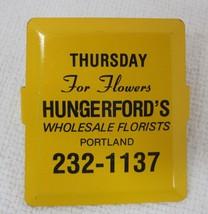 Vintage Hungerfords Wholesale Florist Paper Clip Thursday Bright Yellow ... - $14.36