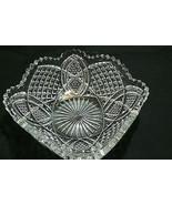 Beautiful American Brilliant Period Square Crystal Sawtooth Edge Bowl - $34.64