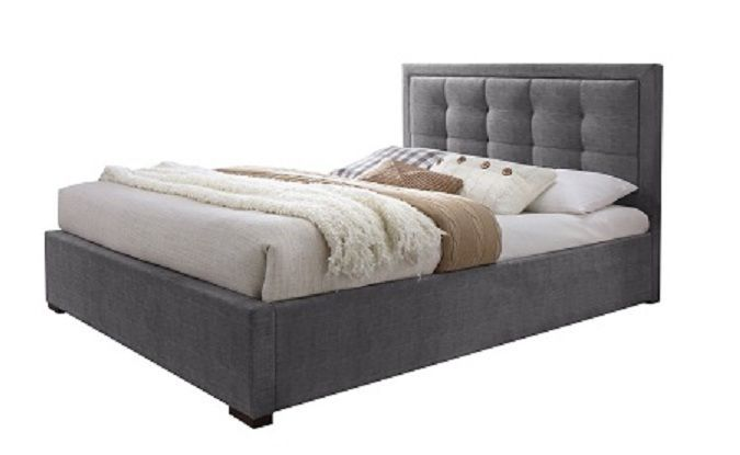 J&M Duke King Size Upholstered Platform Bed Chic Contemporary Modern style