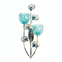 Gallery of Light Wall Sconce Candle Holder, Mounted Rustic Decor Peacock... - £24.75 GBP