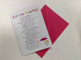 Lift Your Head High  - Cute Motivational & Encouragement Luxury Greeting... - $3.96