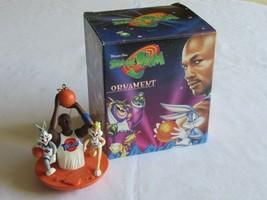 Warner Bros WB Space Jam Ornament Michael Jordan Lola Bugs Bunny 1996 Ba... - $24.99