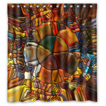 Abstract 025 Style Shower Curtain Waterproof Made From Polyester - $29.07+