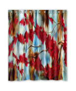 Abstract 026 Style Shower Curtain Waterproof Made From Polyester - $29.07+